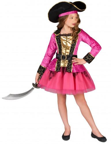 Pinkes Piratenkostüm für Mädchen