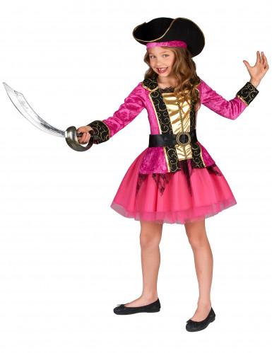 Pinkes Piratenkostüm für Mädchen-1