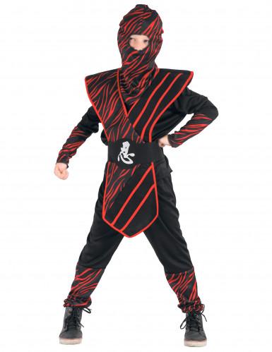 Ninjakostüm rot für Jungen!