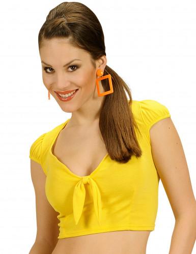 Sexy Top für Damen bauchfrei gelb
