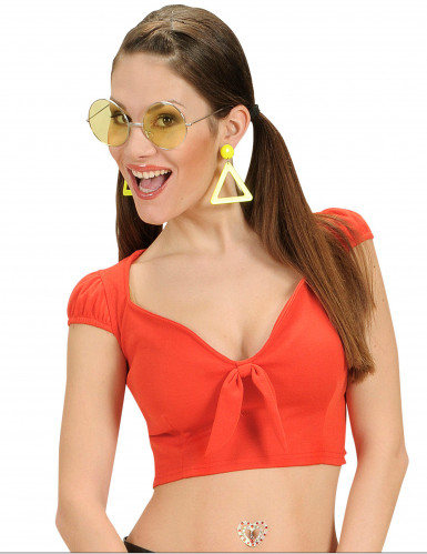 Sexy Top für Damen bauchfrei rot