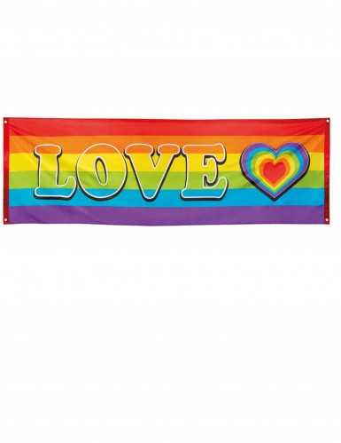 LOVE Party-Banner Regenbogen 74 x 220 cm