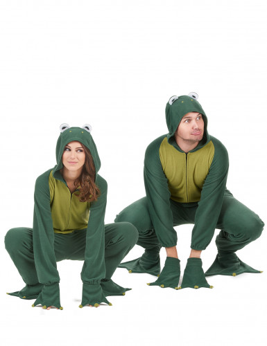Paarkostüm Frosch Anzug mit Kapuze-1