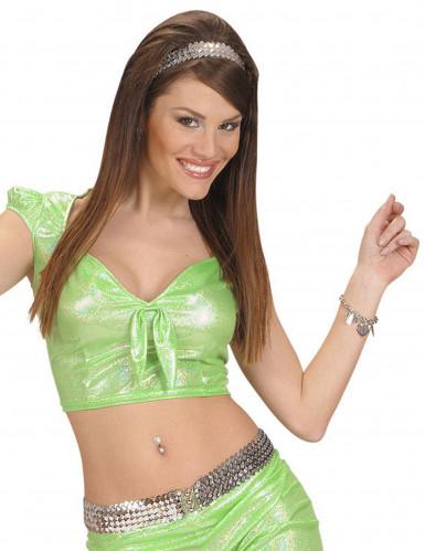 sexy grünes Top mit Schleife für Damen