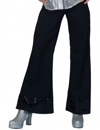 Discohose schwarz mit Pailletten für Damen
