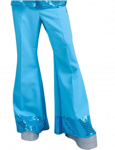 Blaue Discohose mit Pailletten für Herren