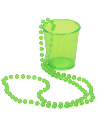 Schnapsglas Kette St. Patrick's Day neongrün