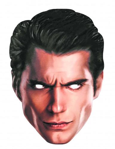 Superman™ Maske aus Pappkarton für Erwachsene