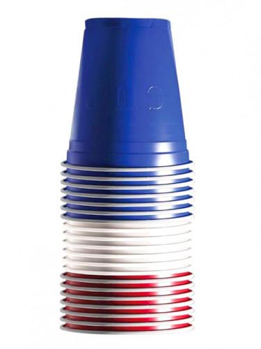 20 Partybecher Frankreich-Farben 53 cl