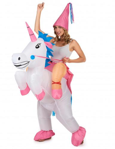 Kostüm aufblasbares Einhorn für Erwachsene