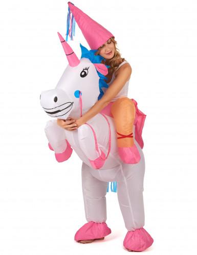 Kostüm aufblasbares Einhorn für Erwachsene-1