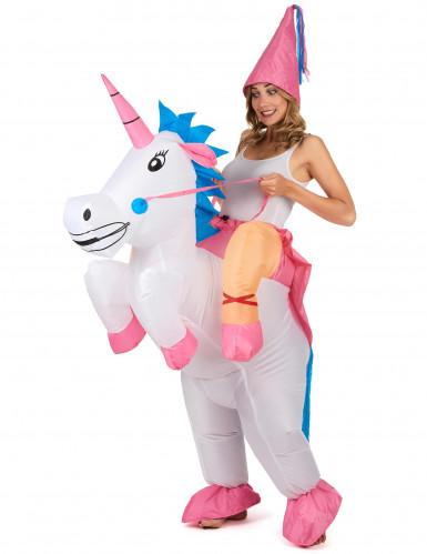 Kostüm aufblasbares Einhorn für Erwachsene-2