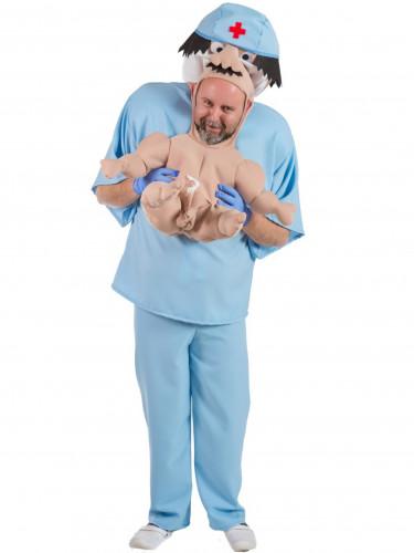 Arzt trägt Baby Kostüm für Erwachsene