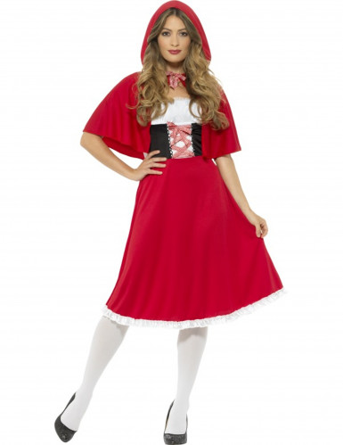 Kostüm Miss Prinzessin in Rot Damen