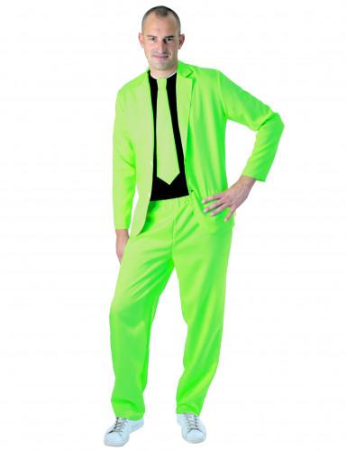 Neongrüner Anzug für Herren