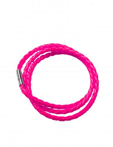 Geflochtenes Armband für Erwachsene neonpink