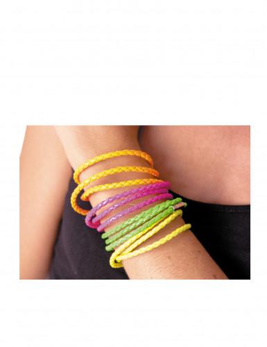 Geflochtenes Armband für Erwachsene neonpink-1