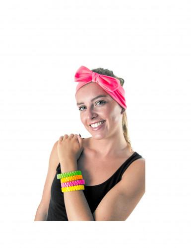 Armband fluoreszierende rosa für Erwachsene-1