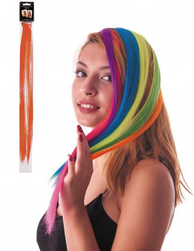 Haarsträhne mit Clip orange