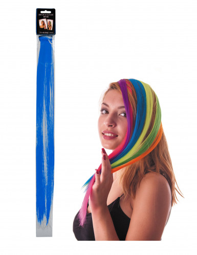 Haarsträhne blau