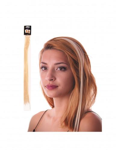Blonde Haarsträhne mit Clip-Verschluss