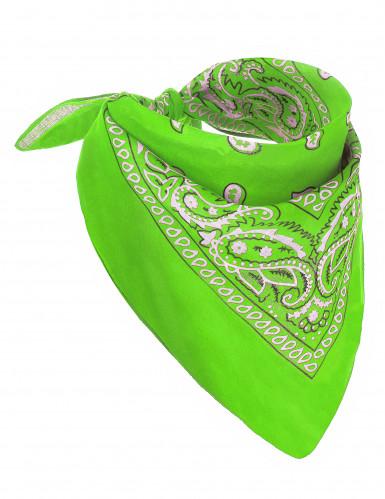 neongrünes Bandana für Erwachsene
