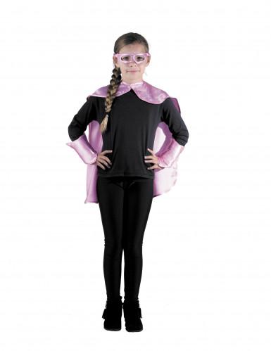 Superhelden Set rosa für Kinder