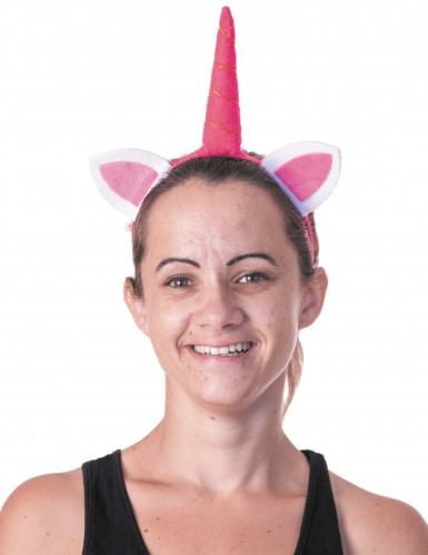 Haarreif rosa Einhorn für Erwachsene
