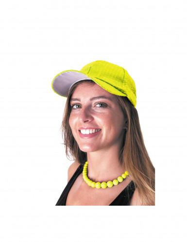 Perlenkette für Erwachsene neongelb-1