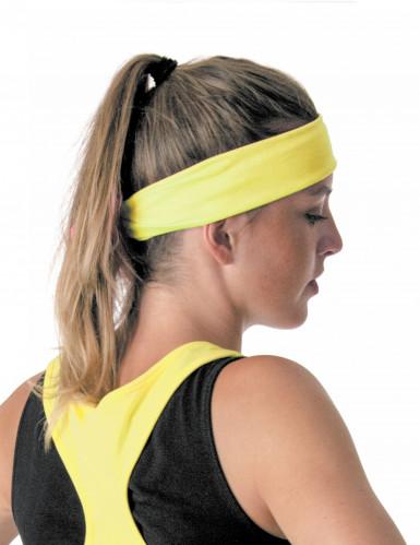 80er Stirnband für Erwachsene gelb