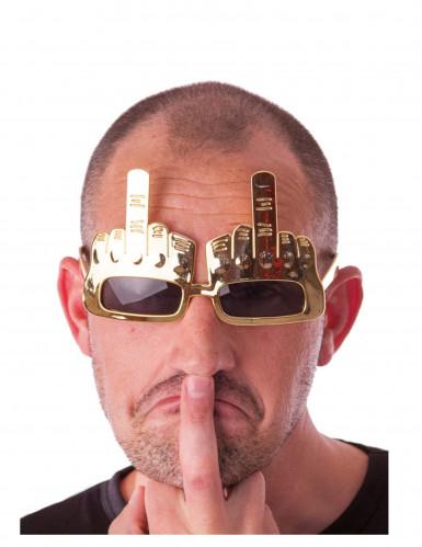 Brille mit gehobenem Mittelfinger für Erwachsene