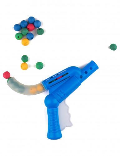Plastikpistole mit Blasrohr