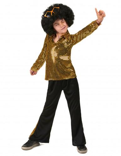 Goldenes Pailletten Kostüm für Jungen