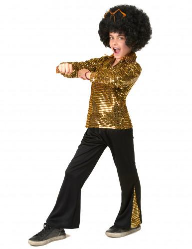 Goldenes Pailletten Kostüm für Jungen-1