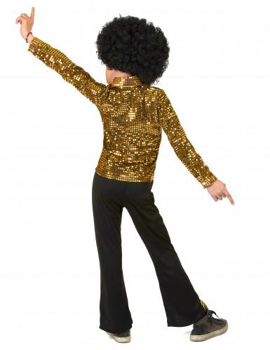 Goldenes Pailletten Kostüm für Jungen-2