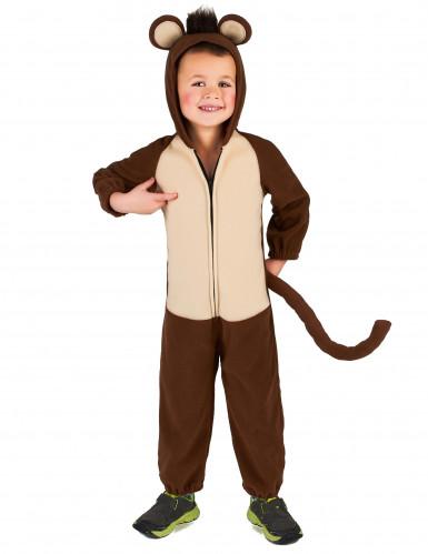 Affen-Kostüm für Kinder Overall braun-beige