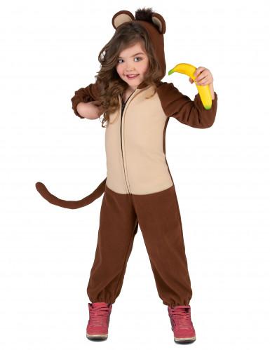 Affen-Kostüm für Kinder Overall braun-beige-4