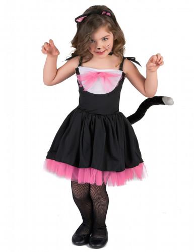 Kostüm Katzentütü für Mädchen rosa und schwarz