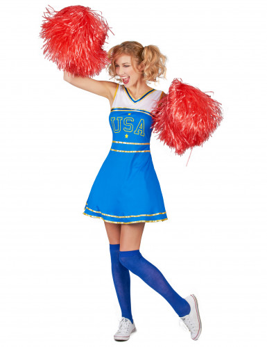 Kostüm USA Cheerleader für Damen-1