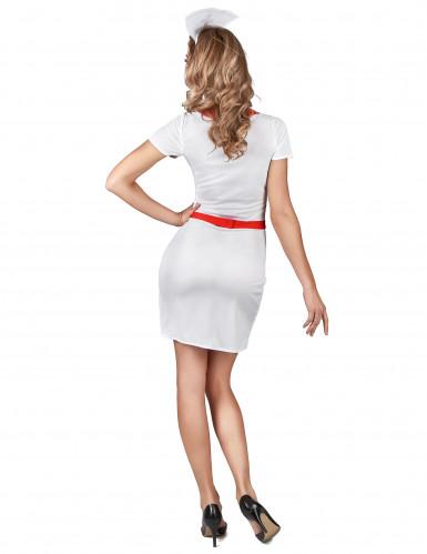 Sexy Krankenschwester Damenkostüm weiss-rot-2