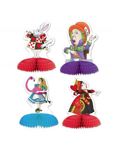 4 Mini Tischsteller Alice im Wunderland