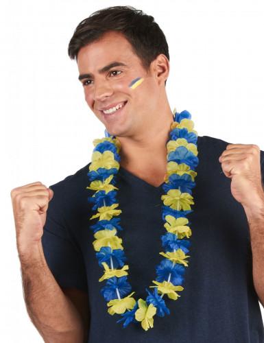Hawaii-Kette für Erwachsene gelb-blau-1
