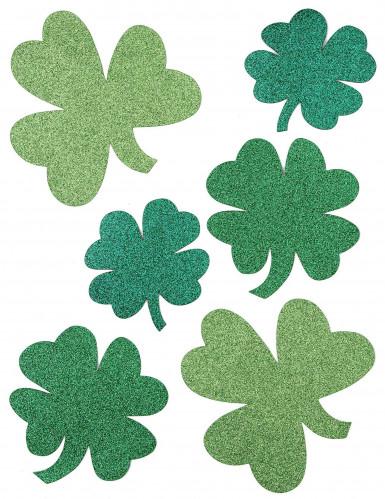 Glitzernde Kleeblätter St. Patrick's Day Deko-Set