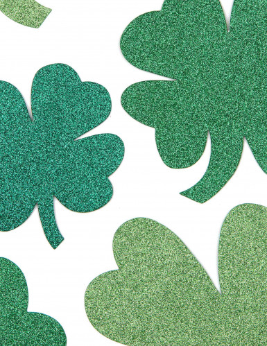 Glitzernde Kleeblätter St. Patrick's Day Deko-Set-1