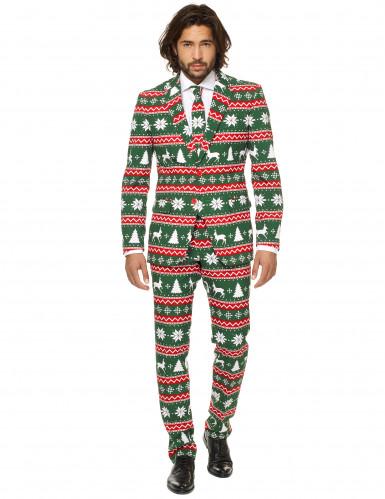 Mr. Festive Herrenkostüm Opposuits™ grün-weiß-rot