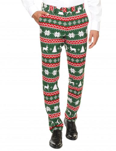 Mr. Festive Herrenkostüm Opposuits™ grün-weiß-rot-1