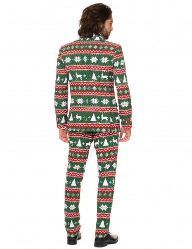 Mr. Festive Herrenkostüm Opposuits™ grün-weiß-rot-2
