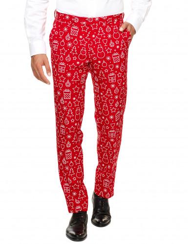 Mr. Iconicool Herren-Anzug Opposuits™ rot-weiß-1