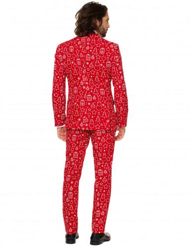 Mr. Iconicool Herren-Anzug Opposuits™ rot-weiß-2