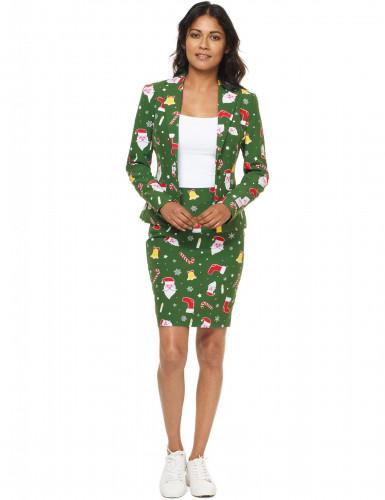 Mrs. Santaboss Damenkostüm Opposuits™ grün-bunt